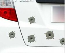 Bullet Hole Stickers gun shot for cars bikes motorcycles helmets - 5 styles Usa