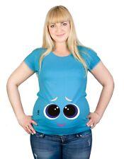Maternity S-XXL Big Eyes Smiling Tummy Funny Mom Baby Shower Gift Top T-Shirt