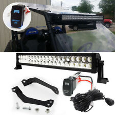 "Upper Roof 30"" Curved LED Light Bar Bracket Kit for Polaris RZR 4 1000 900 XP"