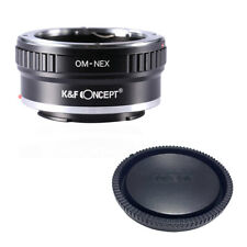 K&F adapter with lens cap  for Olympus OM  mount lens to Sony E NEX a5000 A7II