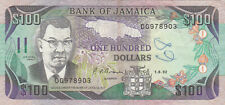 100 DOLLARS FINE BANKNOTE FROM JAMAICA 1992 PICK-75b