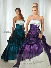 Designer Corsage Lila Quinceanera Brautkleid Ballkleid Partykleid Blau Blumen