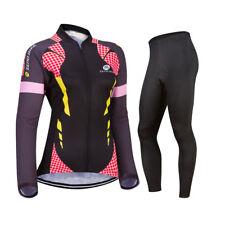 Womens Cycling Jersey Sets Long Sleeve Jersey & Pants Cycling Clothing Sets us