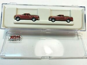 N Scale Atlas Ford F-150 Pick Up Truck -2 pack -Flare Side Dark Red 2984