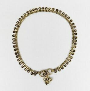One Fair Trade Brass Anklet Indian Made with Bells * Belly Dancing * Hippy