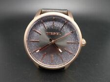 New Old Stock DIESEL Castilia DZ5573 Black Leather Strap Quartz Women Watch