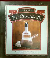 Williams Sonoma Hot Chocolate Glass Pot with Frother BonJour SIDG6QB6P0