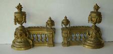 Anciens chenets de cheminée en bronze style Louis XVI