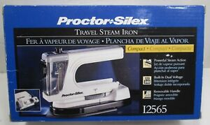 Vintage Never Used Proctor Silex Electric Dual Voltage Travel Compact Steam Iron