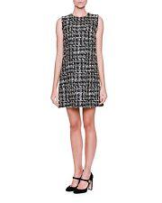 Dolce & Gabbana Sleeveless Tweed Shift Dress Size 48IT/12-14US