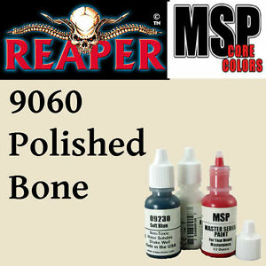POLISHED BONE 9060 -MSP core 15ml 1/2oz paint peinture figurine REAPER MINIATURE