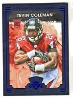 2015 Panini Gridiron Kings BLUE FRAMED #112 TEVIN COLEMAN RC Atlanta Falcons