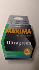 maxima ultragreen 15# One Shot spool 220yds. New Unopened