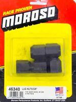 Moroso 46340 Lugnuts 60 Degree Seat Black Steel - 5/8-18' Thread - 5 pc