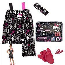 NWT Adorable Girls Monster High 4Pc Spa Wrap Bath Robe Gift Set Size 5 / 6
