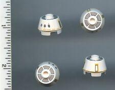 Star Wars LEGO x 4 White Brick, Round 2 x 2 Truncated Cone with SW R5-F7 Pattern