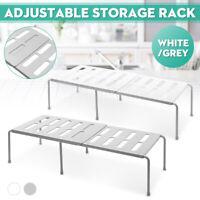 Adjustable Kitchen Cupboard Shelf Storage Support Pantry Stand Organiser Rack