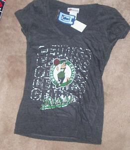 NEW NBA Boston Celtics T Shirt S Small 5th & Ocean Women Ladies Tri Blend NWT