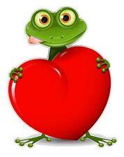 Autoaufkleber Sticker Frosch Herz NEU Aufkleber
