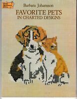 Favorite Pets in Charted Designs | Dover Needlework Cats Dogs Cross Stitch