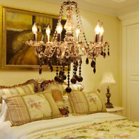 Crystal Chandelier 6 Arms Ceiling Lights Candle Pendant Lamp For Dining Room