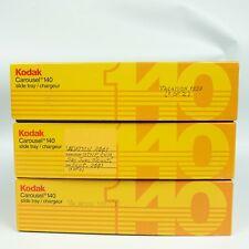 Kodak Carousel Transvue 140 Slide Trays - LOT OF 3