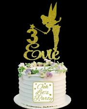162. Personalised Fairy Cake Topper, Choose Your Name& Age, Cake Decoration.