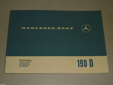 Mode D 'em Ploi / Owner ´S 'em Mercedes Benz W110 190D Aileron Support 1965