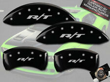 """2006-2010 Dodge Charger """"R/T"""" Front + Rear Black MGP Brake Disc Caliper Covers"""