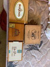 4 Wood Cigar Boxes