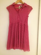 Pink & Black Spotted Shirt Dress from Guess Size UK 12