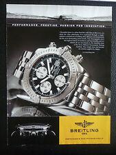 2/2006 PUB MONTRE BREITLING WATCHES CHRONOMAT EVOLUTION AVIATION ORIGINAL AD