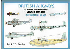 IMPERIAL AIRWAYS BOOK BA VOL 1 1919 - 1939 INSTONE RAS DAIMLER FLYING BOATS HP42
