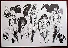 Vampirella 1972 Rare Poster by Mike Royer Warren Publishing Artist Rare Vintage