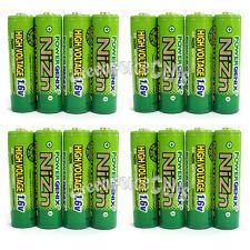16 pcs 2500mWh 1.6V Volt AA 2A NiZn Rechargeable Battery PowerGenix
