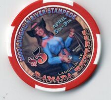 LAUGHLIN RAMADA EXPRESS 1999 CHRISTMAS CASINO    $5 CHIP