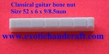 Classical guitar bone nut precut top quality size 52 x 6 x 9mm