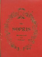 "Older Restaurant Menu - The Sopris - Chef Wigger - 14 1/2"" x 8 3/4"" - Nice Cond"