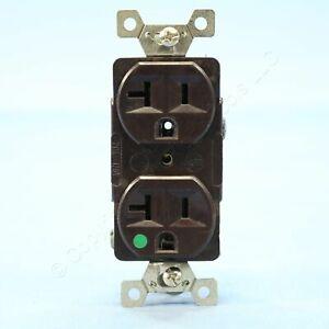 Arrow Hart Brown HOSPITAL Power Receptacle Duplex Outlet NEMA 5-20R 20A 8300B