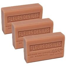 French Soap-Traditional-Savon de Marseille- 3 x 125g -Island Flower-Shea Butter