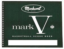 Markwort Mark V Basketball Scorebook - 30 Games Score Book Scoring