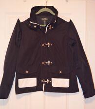 Ralph Lauren RL Active Sz M Preppy Silver Clip Navy Blue Ladies Jacket Brand New