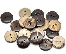 10 Botones De Coco 12.5 mm 2 agujero Flatback Costura Artesanía Reino Unido Vendedor Bebé Tejer