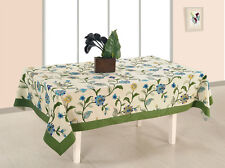 SWAYAM Off White Colour 6 Seater Table Flat Cotton Table Cover