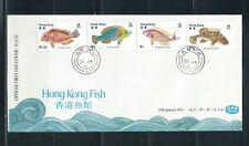 Hong Kong 1982 Fish FDC Sc#369-72