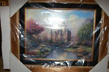 Thomas Kinkade A New Day At Cinderella Castle G/P New Never displayed