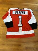Bernie Parent Autographed Replica Flyers Jersey W COA