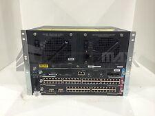 Cisco WS-C4503 Chassis w/ WS-X4013+10GE, WS-X4148-RJ, WS-X4232-GB-RJ