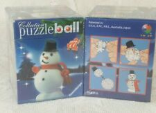 2007 Ravensburger 3D Snowman Puzzle Ball Ornament 77 Pieces Retired NEW SEALED