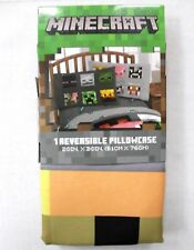 Minecraft 1-Pack Reversible Graphic Pillowcase Standard Multicolors